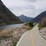A picture of the bike path near Chuncheon in South Korea.