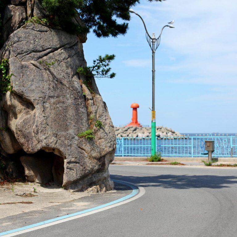 The Gangwon Bicycle path along Korea's East Coast route.