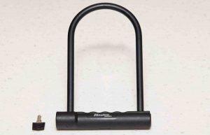 A picture of a bike lock.