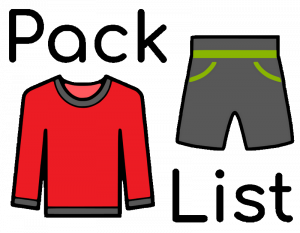 Clothes to pack for a fall bike ride.
