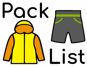 Clothes to pack for a summer bike ride.