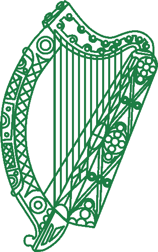 The Irish embassy logo.