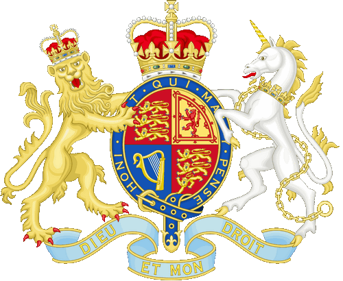 The United Kingdom embassy logo.