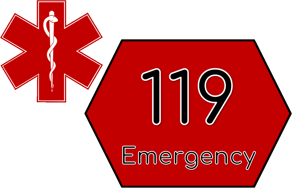 Phone number for emergency services in Korea.