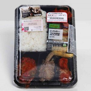 A picture of a lunchbox from a Korean convenience store.