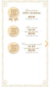 A screenshot of Korea's bike passport app showing the certificate sticker screen..