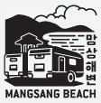 Mangsang Beach certification center checkpoint stamp for Korea's Bicycle Certification system.