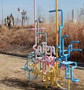 A sculpture park along the Ara Bike Path in Incheon, South Korea.
