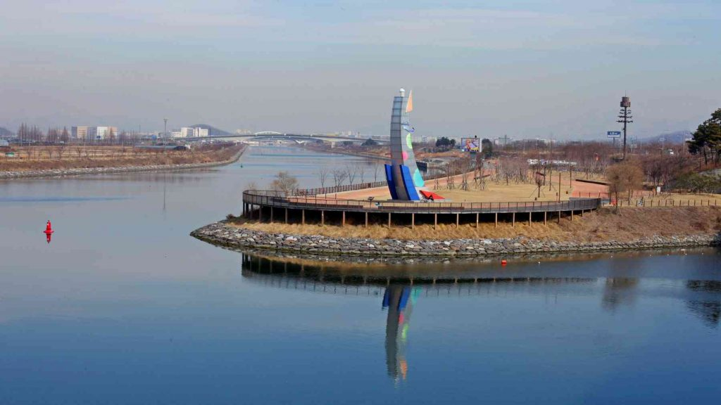 Duri Ecological Park along the Ara Bike Path in Incheon, South Korea.