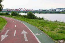 Nakdonggang Bike Path - Andong Sangju - Andong Park Bike Path Bridge