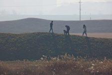 Ocheon Bike Path - Jeungpyeong Sejong - Students on Earthen Fortress near Cheongju