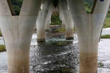 Ocheon Bike Path - Yeonpung Jeungpyeong - Dongjin Stream under Bridge