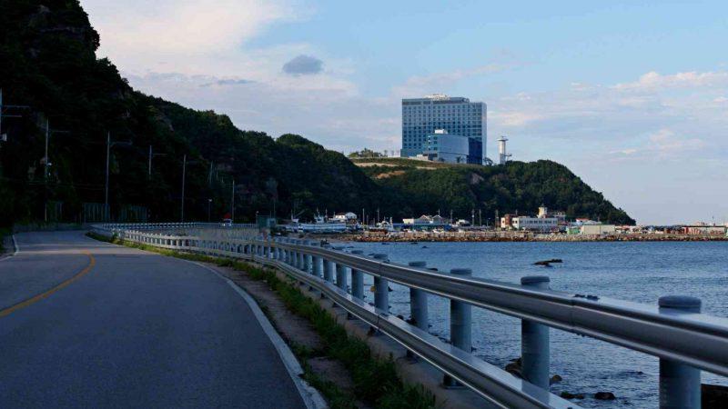 A hotel along the East Coast Bike Route in South Korea.