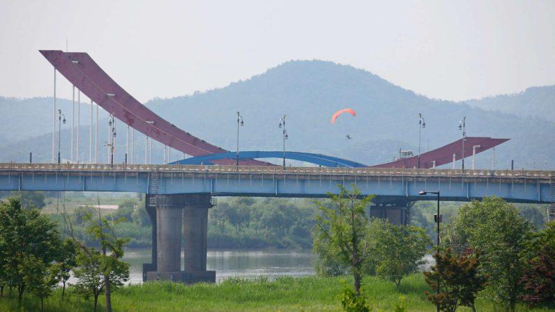 Geumgang Bike Path - Buyeo Gunsan - Baekje Bridge Park Parachute Flyer