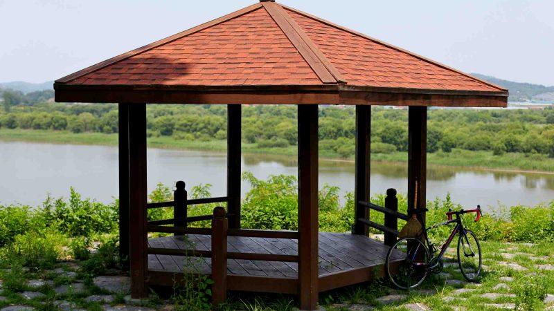 Geumgang Bike Path - Buyeo Gunsan - Gazebo Geum River Bike