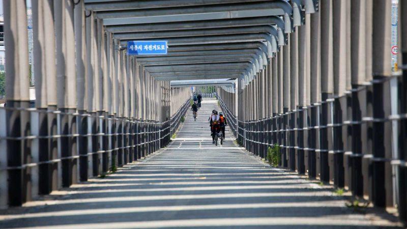 Geumgang Bike Path - Daejeon Buyeo - Solar Panel Highway Interior Bikers