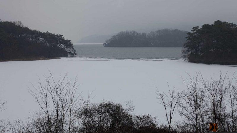 Hangang Bike Path - Hanam Yeoju - Frozen Hang River