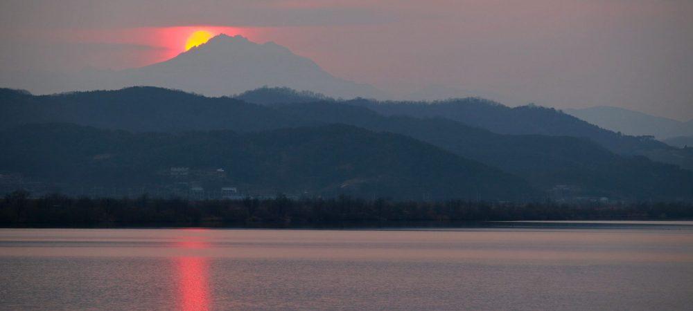 Nakdonggang-Bike-Path-Gumi-Daegu-Sunset-on-Hillside-1