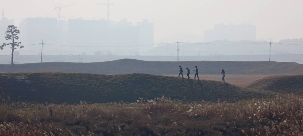 Ocheon Bike Path - Jeungpyeong Sejong - Earthen Fortress near Cheongju with Students