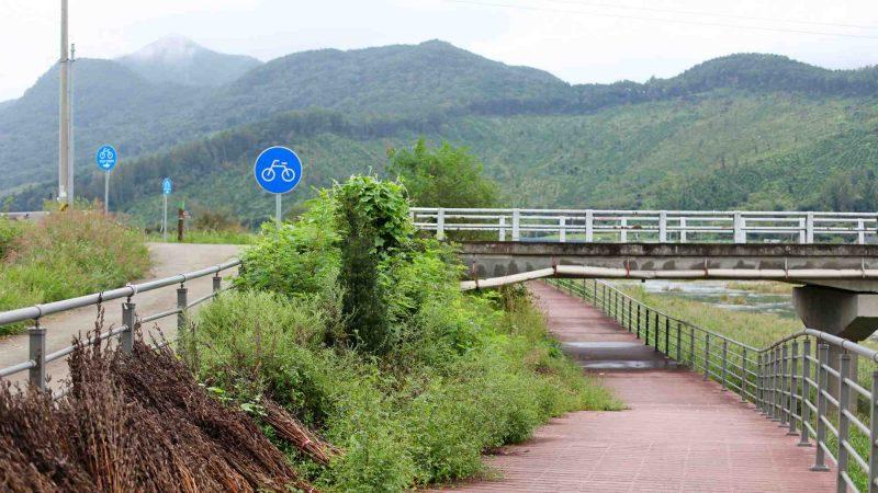 Ocheon Bike Path - Yeonpung Jeungpyeong - Bike Path Underpass Mountains