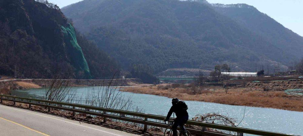 The Sobaek Mountain Range (소백산맥) rises south of downtown Chungju City.