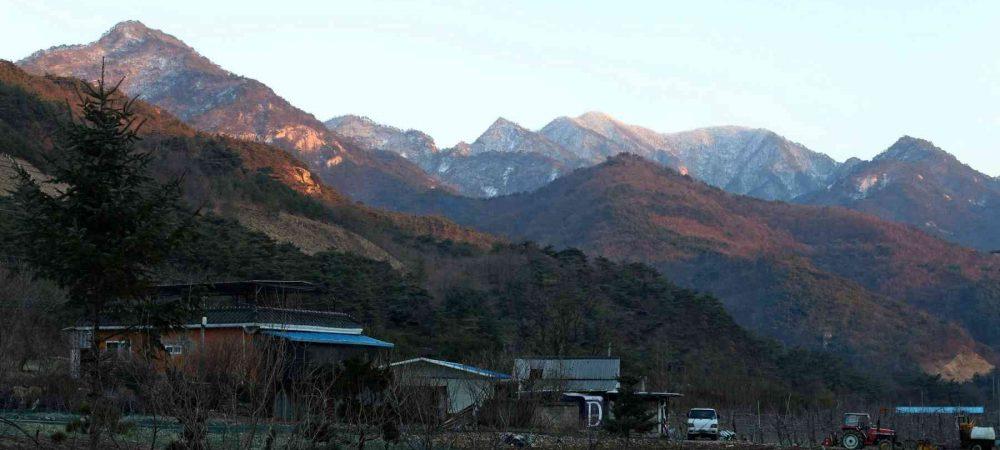 Saejae Bike Path - Chungju Sangju - Mountain Sunset
