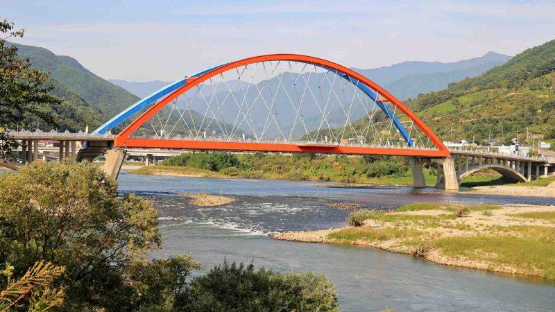 Seomjingang Bike Path - Gokseong Gwangyang - Namdodaegyo Bridge and River