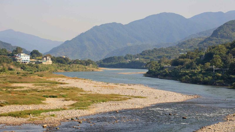 Seomjingang Bike Path - Gokseong Gwangyang - Seomjin River from Namdodaegyo Bridge in Gurye County