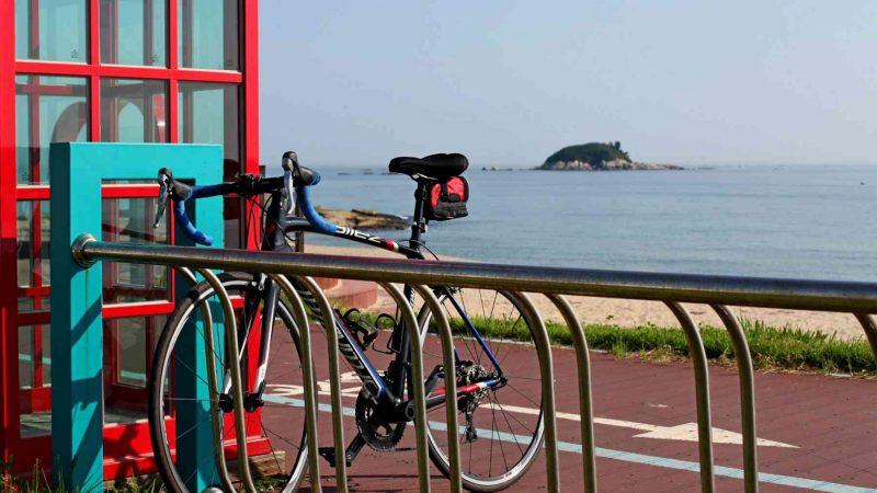 Sokcho ⟷ Daejin Bongpo Beach Bike Stamp Booth