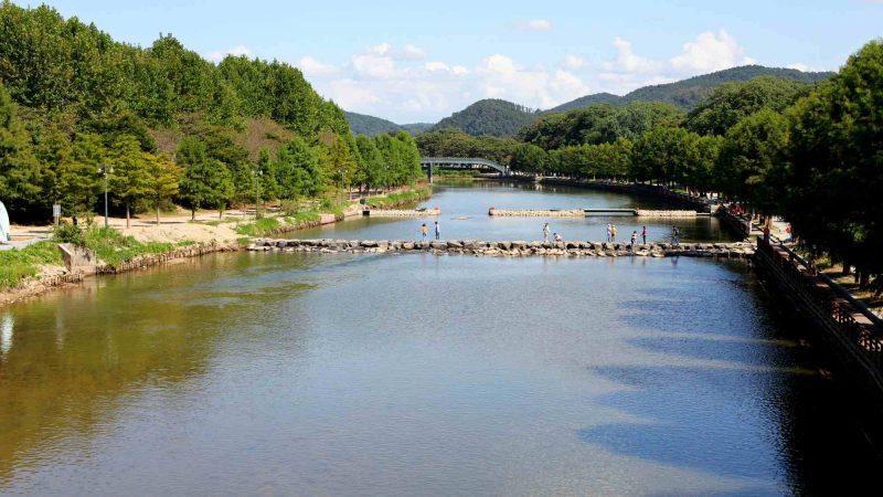 Yeongsangang Bike Path - Damyang Gwangju - Yeongsan River through Damyang