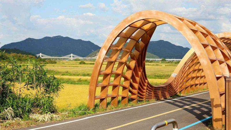Yeongsangang Bike Path - Gwangju Mokpo - Bike Path near Mokpo Mountains Tunnel