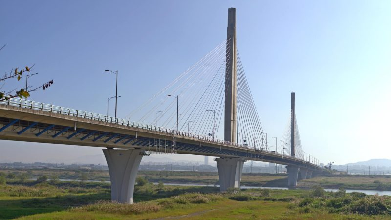 Yeongsangang Bike Path - Gwangju Mokpo - Bitgaram Bridge over Yeongsan River near Naju