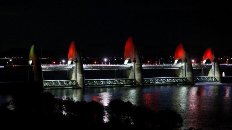 Yeongsangang Bike Path - Gwangju Mokpo - Seungchonbo Night Red