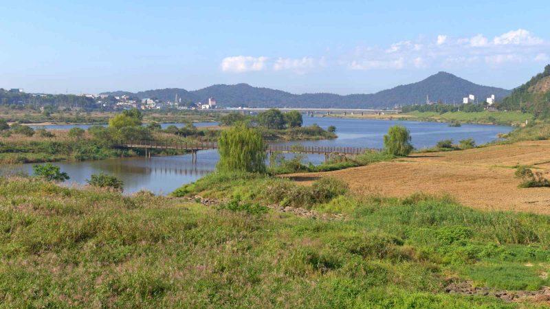Yeongsangang Bike Path - Gwangju Mokpo - Yeongsan River near Naju